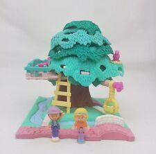 Vintage Polly Pocket Tree House 100% Complete original figures 1994  Excellent