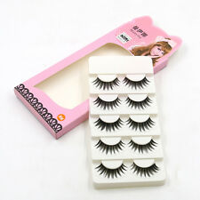 Neu 5 Paar Natural Lang Handgemachte falsche Wimpern Makeup Fake Eyelashes MIDE