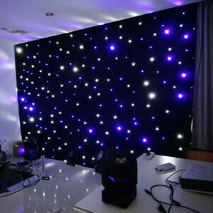 LED Starlight Stage Backdrop Curtain Background w/ Controller Wedding Party