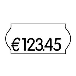 Preisetiketten Preisauszeichner Etiketten Etikettenrollen weiß 26x12mm perm. 2St