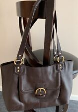 Coach Dark Brown Leather Campbell Belle Carryall Handbag
