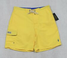 Polo Ralph Lauren Swim Trunks Board Yellow Swimming Shorts L Large Nwt