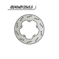 DISCO FRENO NG 638 240/140/125/5/5/6,5 PIAGGIO 125 X7 EVO 2009-2012