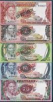 Swaziland 1, 2, 5, 10, 20 Emalangeni SPECIMEN Set, 1974 / 1978, P CS1, UNC