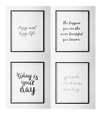 SET 0F 4 -Inspirational Quotes A4 prints- Gallery Wall Prints- Wall Art