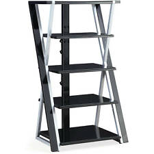 Stereo Rack Tower Storage Audio Stand Shelves Equipment Cabinet Table Console