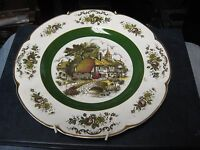 "Vintage Wood and Sons Ascot Service Plate Alpine White Ironstone 10-3/4"" Plate"