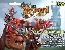 New Wizard 101 Battlemage Keep Bundle Game Card Crowns Battle Havox Mount Armor
