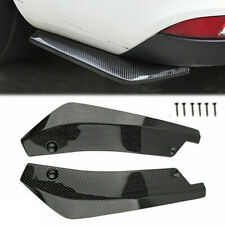 2Pcs Carbon Fiber Rear Bumper Lip Diffuser Splitter Canard Protector Accessories