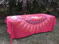 Table Cloth - Bohemian Sunset Peacock Square (240 cm x 240 cm)
