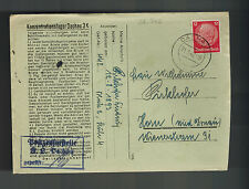 1942 Germany Dachau Concentration Camp Cover with Letter KZ Ludwig Pirckhofer