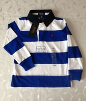 Ralph Lauren  Boy's Striped 100% Cotton  Rugby Polo Shirt (4Years)