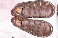 GBX Men's Fisherman Sandals Genuine Leather Casual Shoes Size 13M