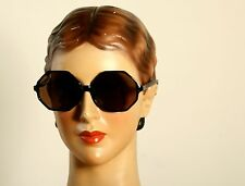 Octagonal Vintage 70s sunglasses in shiny black by SELECTA, OCTAGON    L33