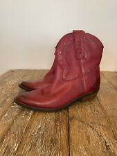 Womens Lucky Brand Leather Booties Boots Sz 7.5