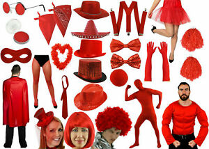 NEW RED NOSE DAY LADIES MEN COMIC RELIEF FANCY DRESS PARTIES COSTUME ACCESSORIES