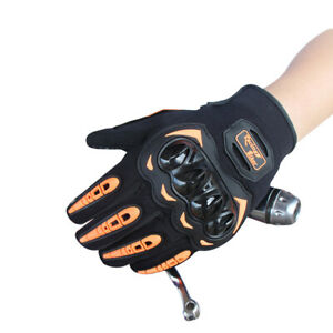 Hard Knuckle Touchscreen Motorcycle Bicycle Motorbike Powersports Racing Gloves
