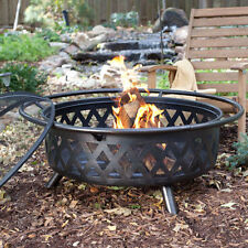 Portable Fire Pit Wood Heater Fireplace Extra Large Round Steel Bowl Firepit Log