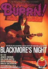 Burrn! Heavy Metal Magazine May 1997 Japan Blackmore's Night Dio Queensryche