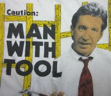 Home Improvement beat-up tee Tv sitcom 1990s Tim Allen T shirt Xl Man w/ Tool