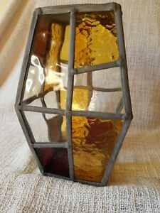 Vintage Stained Glass Lead Porch Light Fitting