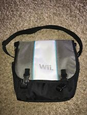 Nintendo Wii Backpack Tavel Bag Console Pad Shoulder Sling Shoulder Gray Pocket