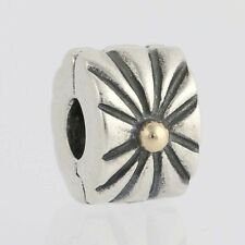 NEW Authentic Pandora Sunburst Clip Charm Sterling 14k Gold 790216 Retired