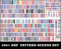 350+ Pcs Screens Set CNC DXF Art Files Corel Waterjet Laser Plasma Ready To Cut