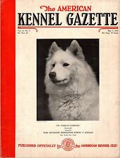 Vintage American Kennel Gazette May 1935 Samoyed Cover