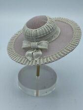 Vintgae Lladro Laced Porcelain Lavender Hat Bonnet w/ Stand