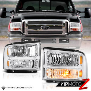 1999 2000 2001 2002 2003 2004 Ford F250 F350 Front Bumper Signal Headlights Lamp