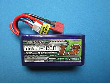 TURNIGY NANO-TECH 1300mAh 3S 11.1V 25-50C LIPO BATTERY T PLUG DEANS 250 FPV RACE
