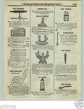 1919 PAPER AD Eagle Design Fishing Trolley Sinker 2 Others Brass Wheels