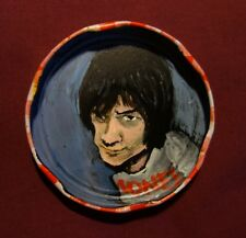 DEE DEE RAMONE, Jam Jar Lid Portrait, CBGB NYC Punk, Outsider Folk Art PETER ORR
