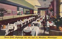 Postcard Davis Grill Meridian Mississippi MS