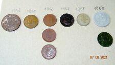 More details for 1948-1959 britt, fillér,half penny1948, lot, 5 zloty, 4india, lovely mix