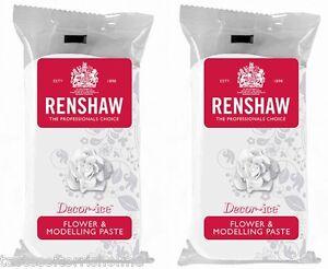 Renshaws White Flower & Modelling Paste Cake Decorating Sugar Craft 500g