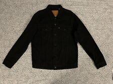 Mens Black Levis Denim Jacket Large
