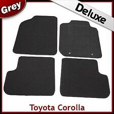 Toyota Corolla Mk9 / E120 E130 2001-2007 Tailored LUXURY 1300g Carpet Mats GREY