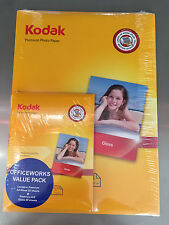 Value Pack 100 Sheets Kodak Premium Gloss Photo Paper A4 +100 Sheets 4 x 6 Gloss