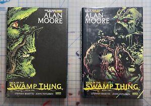 Saga of the Swamp Thing Alan Moore Book 1 & 2 HC Hardcover VF JLA Omnibus 2009