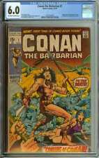 CONAN THE BARBARIAN #1 CGC 6.0 OW/WH PAGES