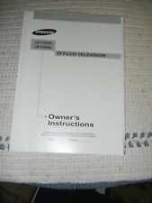 SAMSUNG TFT LCD TV OWNERS MANUAL LN-S4095D LN-S4695D USER INSTRUCTIONS