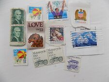 11 Old USA Stamps Franked Various inc Special Olympics