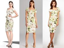 New Karen Millen floral print fitted peplum shift wedding party dress UK 10 US 6