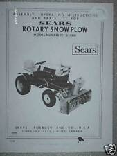 917.251351- Sears Rotary Snow Plow/Blower- Owners Manual on CD