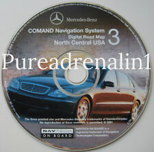 2001 MERCEDES BENZ S430 S500 S55 S600 NAVIGATION MAP DISC CD 3 NE ND MN IA KS MO