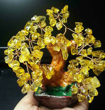 AAA+++ Lucky tree!!! Natural pretty citrine yellow crystal gem tree