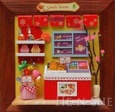 DIY Wooden Dollhouse Miniature Photo Candy Shop M015