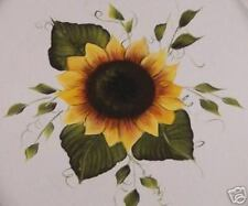 Hand Painted Sunflower Toilet Seat/Elongated/By Mb